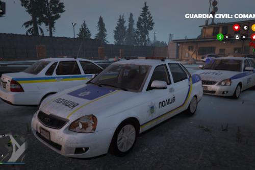VAZ-2170 Lada Priora Українська поліція ( Ukraine Police / Policia Ucrania / Полиция украины ) [Add-on/Replace]